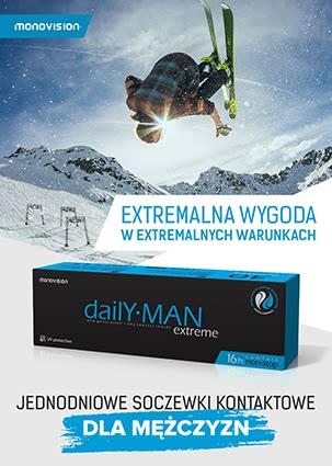 Soczewki Kontaktowe dla mężczyzn Daily MAN Extreme